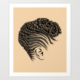 Crown: Braided Updo Art Print