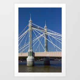 Albert Bridge on the Thames in London (2) Art Print