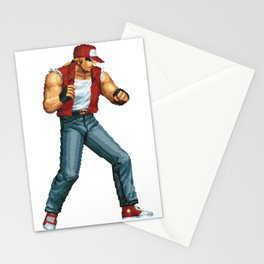 Terry Bogard pixel art Retrogaming Stationery Cards