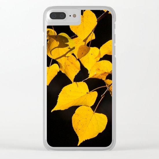 Autumn Foliage Clear iPhone Case