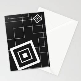 """""""From Big to Small"""" abstract composition (inversion) Stationery Cards"""