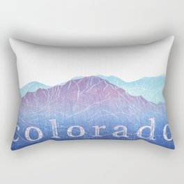 Colorado Mountain Ranges_Pikes Peak + Continental Divide Rectangular Pillow