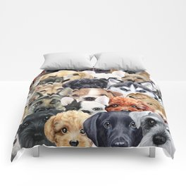 Dog All start, Dog illustration original painting print Comforters