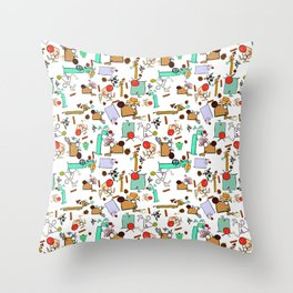 """Dialogue with the Dog - R01 - """"Friends"""" Throw Pillow"""
