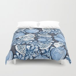 Persephone: Stormy Blue Skys  Duvet Cover