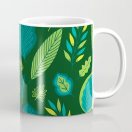 Tropical Flora 5 on Green Coffee Mug
