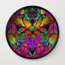 Floral Fractal Art G306 Wall Clock