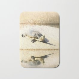 Hilaire's toadhead turtle Bath Mat
