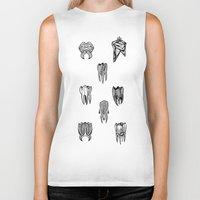 tooth Biker Tanks featuring Tooth 4 tooth by comma black