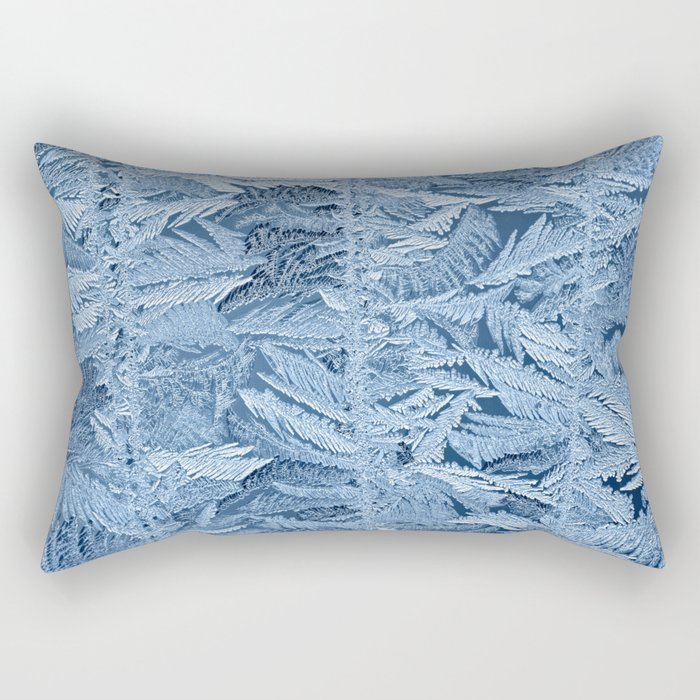 Beautiful frost patterns on glass Rectangular Pillow