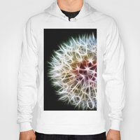 dandelion Hoodies featuring Fractal dandelion by Mark Nelson