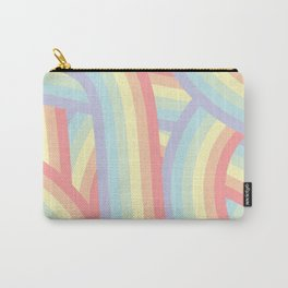 Soft Pastel Rainbow Stripes Pattern Carry-All Pouch