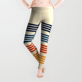 Kenshin - Classic Old School Retro Stripes Leggings