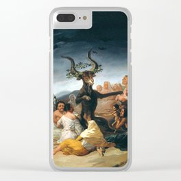 The Sabbath of witches by Francisco Goya, 1798 Clear iPhone Case