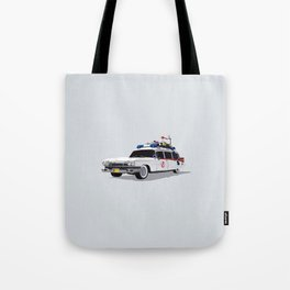 Ghostbusters Illustrated Ecto 1 Tote Bag