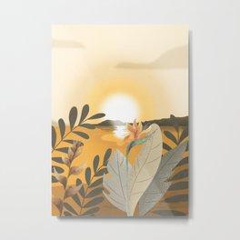 Sun Setting Metal Print
