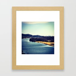 Austin In The Distance Framed Art Print