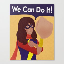 Kamala Khan Can Do It! Canvas Print