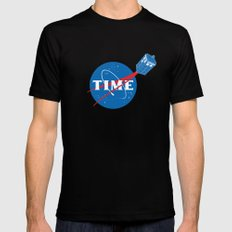 TIME MEDIUM Black Mens Fitted Tee
