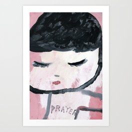 Praying children. Art Print