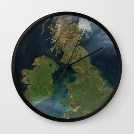 Nearly cloud-free view of Great Britain and Ireland was acquired by the Moderate Resolution Imaging Wall Clock