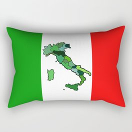 Map of Italy and Italian Flag Rectangular Pillow