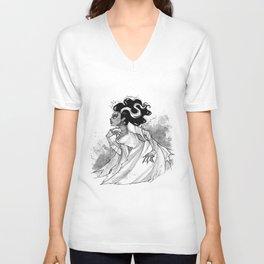 Inktober Bride of Frankenstein Unisex V-Neck