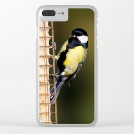 Great tit on feeder Clear iPhone Case