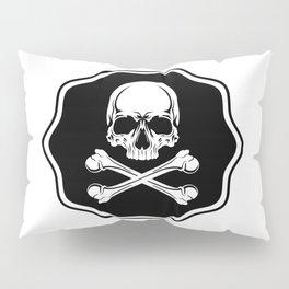 Skull and bones. Jolly roger. Pillow Sham