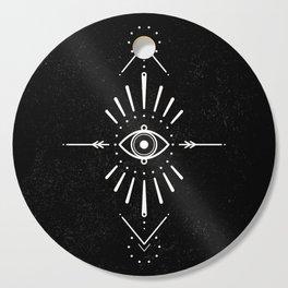 Evil Eye Monochrome Cutting Board