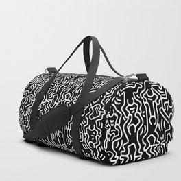 Figures Variation Keith Haring Black Duffle Bag