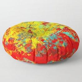 Abstract Tree Floor Pillow