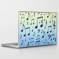 music notes Laptop & iPad Skins featuring Music notes by Gaspar Avila
