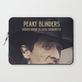 Peaky Blinders poster, Cillian Murphy is Thomas Shelby, Adrien Brody is Luca Changretta Laptop Sleeve