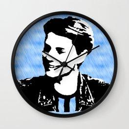 jace norman art print blue Wall Clock