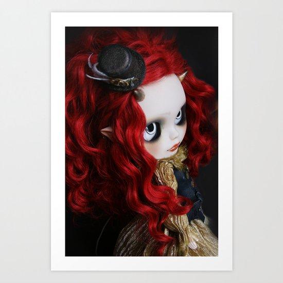 STEAMPUNK (Ooak  BLYTHE Doll) Art Print