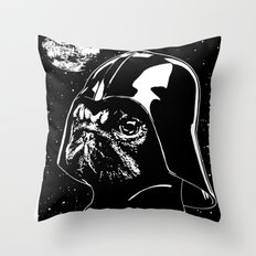 Pug Vader Throw Pillow