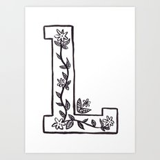 L is for Art Print