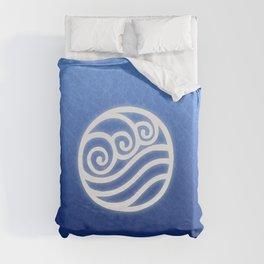 Avatar Water Bending Element Symbol Duvet Cover