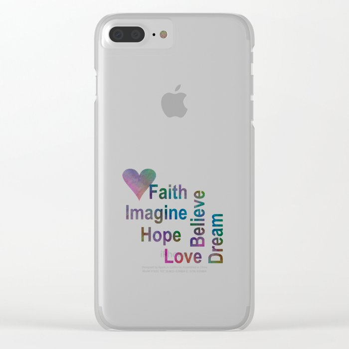 Inspirational Clear iPhone Case