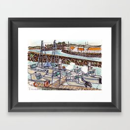 The Harbour 2, Figueira Da Foz, Portugal Framed Art Print