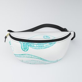 Doodle fish jumping out of the water Maritime Fanny Pack