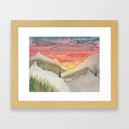 Rusty Light on the Pines Framed Art Print