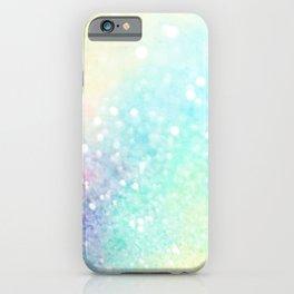Pretty Pastel Colorful Glitter Bokeh Gradient iPhone Case