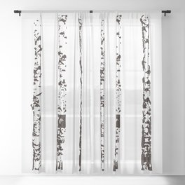 Scandinavian Birch Sheer Curtain