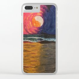 Sun and Moondance Clear iPhone Case