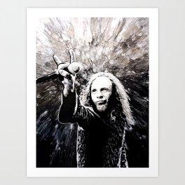 Ronnie James Dio Portrait Art Art Print