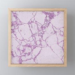 Girly blush lavender elegant faux glitter marble Framed Mini Art Print