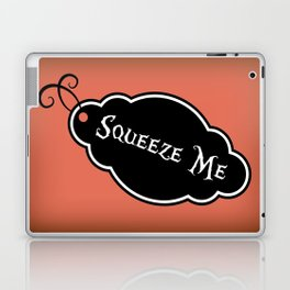 """""""Squeeze Me"""" Alice in Wonderland styled Bottle Tag Design in 'Mad Hatter Melon' Laptop & iPad Skin"""