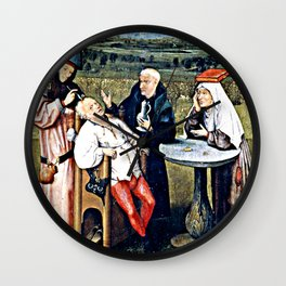 Trepanning  - The Stone Cutting, Extraction of the Stone Folly, The Extraction of the Stone Madness Wall Clock